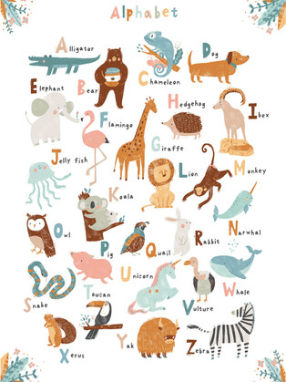 ABC Animals print