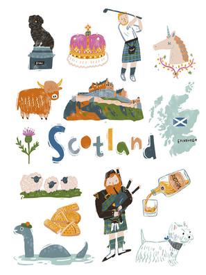 Travel Scotland Art Print