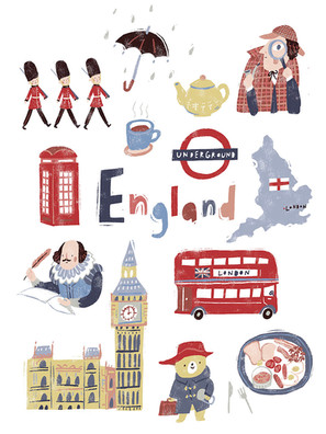 Travel England Art Print