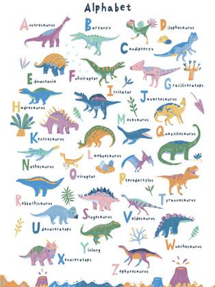 ABC Dinosaur Print