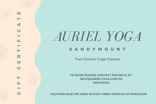 Two Online Yoga Classes