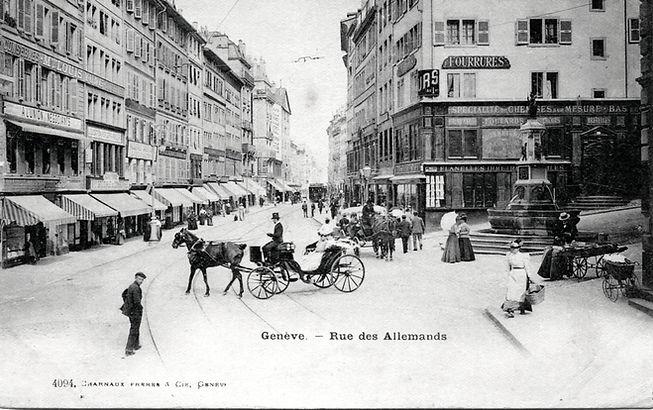 1875瑞士日內瓦街景