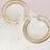 Thumbnail: Silhouette Hoop Earring