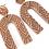 Thumbnail: Tribal Print U Drop Earring