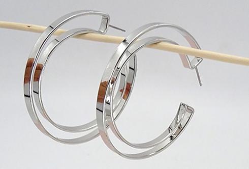 Silhouette Hoop Earring