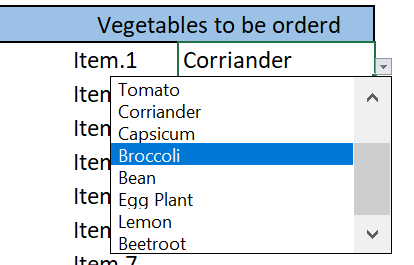 how to create a drop-down list in excel