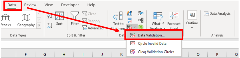 how to add drop-down list in excel
