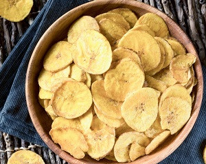 Chips de banane plantain.