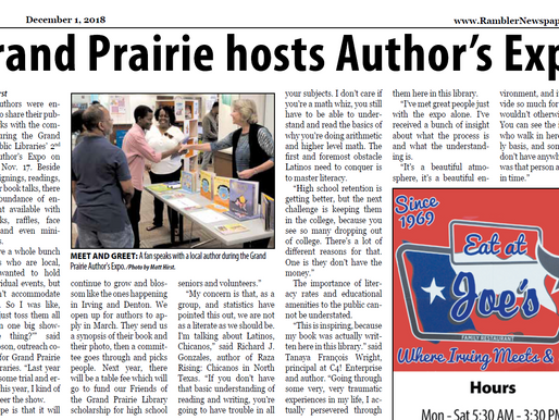 Grand Prairie Libraries Host Author's Expo
