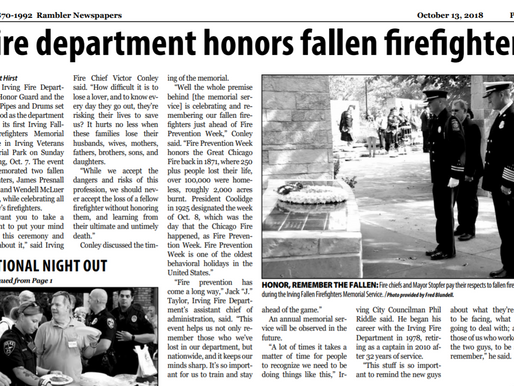Fire department honors fallen firefighters