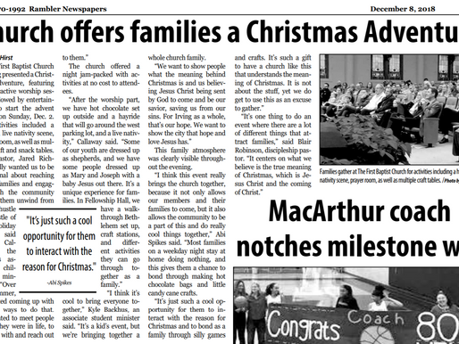 First Baptist Church Irving Offers Families a Christmas Adventure