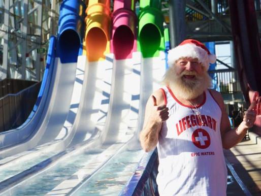 Santa Meets Families at Epic Waters