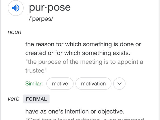 Purpose, schmurpose. Who, what, where am I, and are any of those things as they should be?
