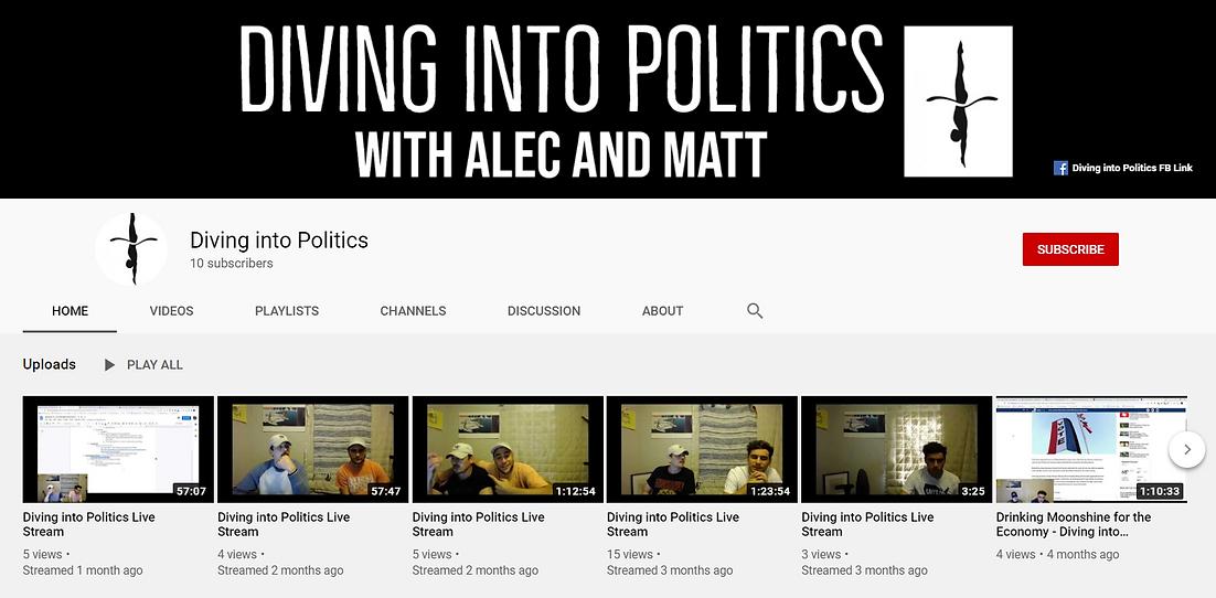Diving into Politics YT screenshot for W