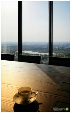 Kaffee im Vienna Twin Tower