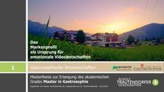 Abschluss und Präsentation der Masterarbeit - Zentrum für Gastrosophie - Universität Salzburg!