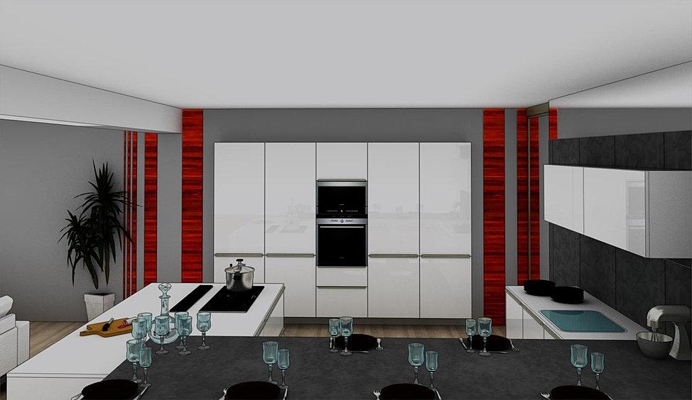 Menuis art cuisine moderne cuisine design dressing vichy for Cuisine projet 3d