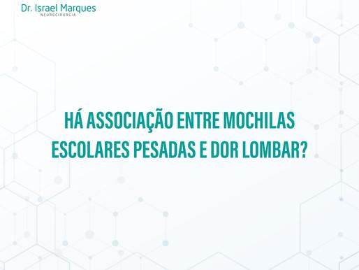 MOCHILAS ESCOLARES PESADAS E DOR NAS COSTAS EM CRIANÇAS E ADOLESCENTES.