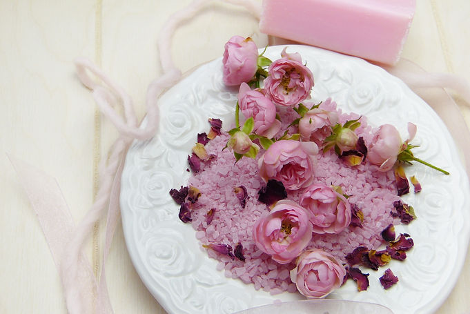 Canva - Top View Of Dish Full Of Roses A