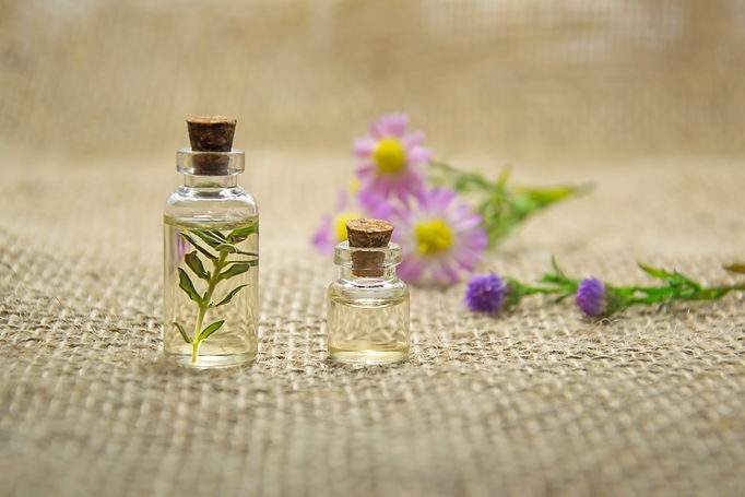 Canva - Essential Oils in Small Bottles.