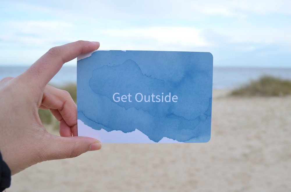 raise up mums resilience cards, get outside