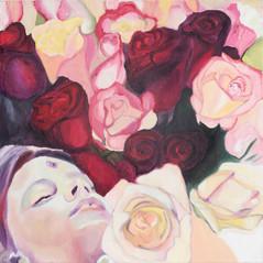 Girl In Flowers III