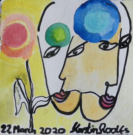 2020 Watercolor ink on paper