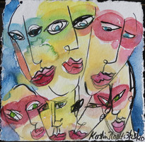 2020 Watercolor & ink on paper 12 x 12 inches