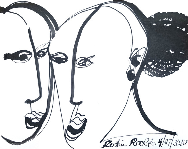 2020 Ink on paper 9 x12 inches