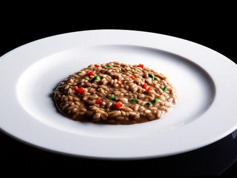 risotto all'aglio nero