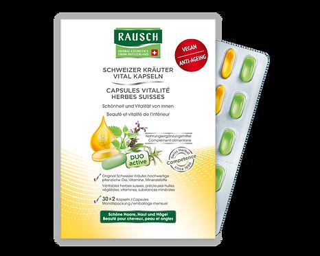 Rausch Swiss Herbal Vitality Capsules 30x20