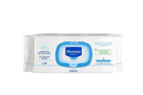 Mustela Cleansing Wipes (70 wipes)