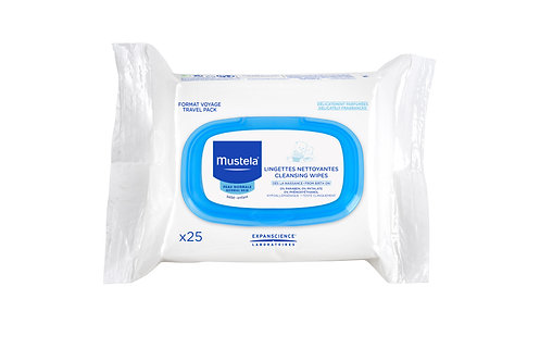 Mustela Cleansing Wipes (25 wipes)