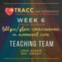 tracc training program week 6 FOCUS sess