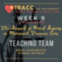 _tracc training program week 9 FOCUS ses
