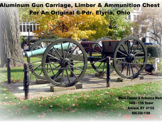 Elyria, Ohio gets new Carriage, Limber and Ammunition Chest for CW Monument