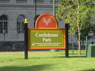 Confederate Park, Memphis, TN. getting new cannons