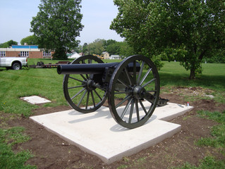 Circleville, Ohio gets new carriage for their 20-pounder Parrott