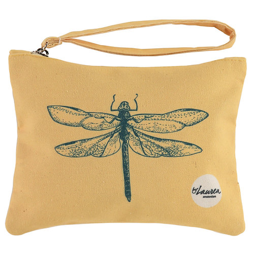 dragonfly sunny yellow clutch