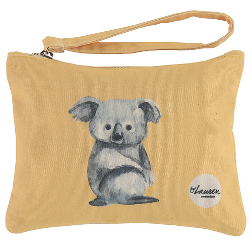 love me koala sunny yellow clutch