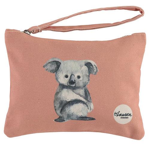 love me koala vintage pink clutch