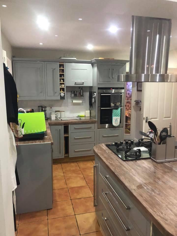 vinyl wrapping kitchen