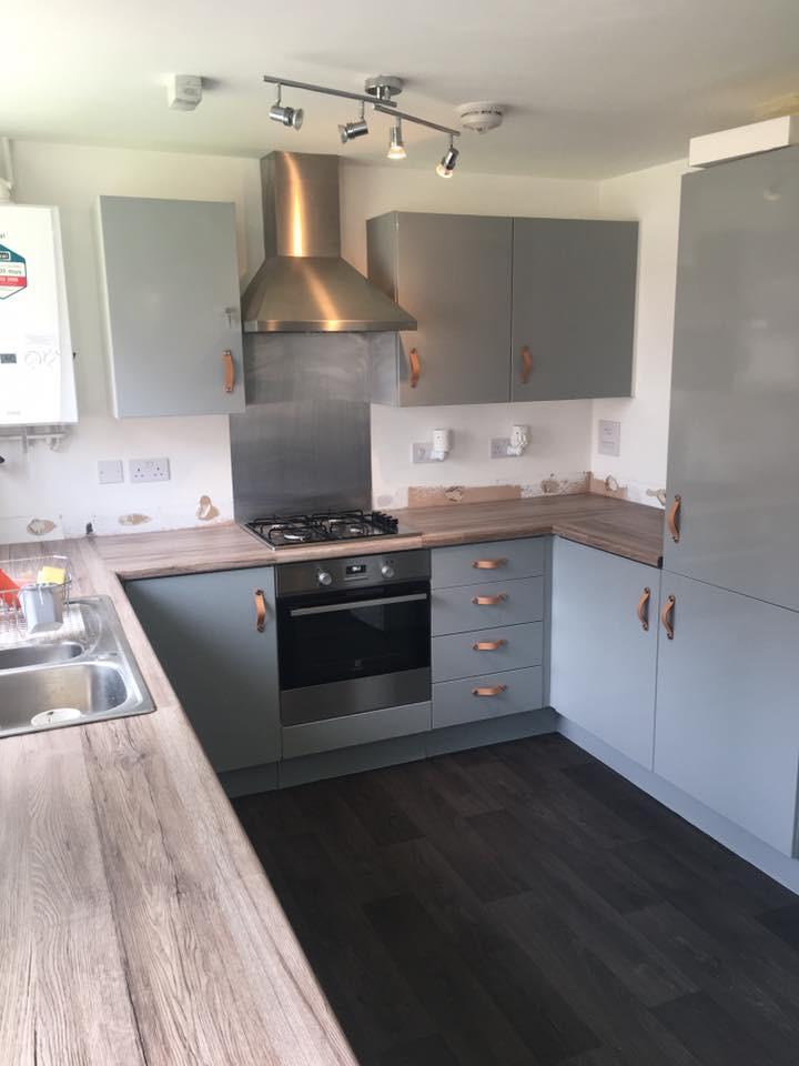 grey wrapped kitchen