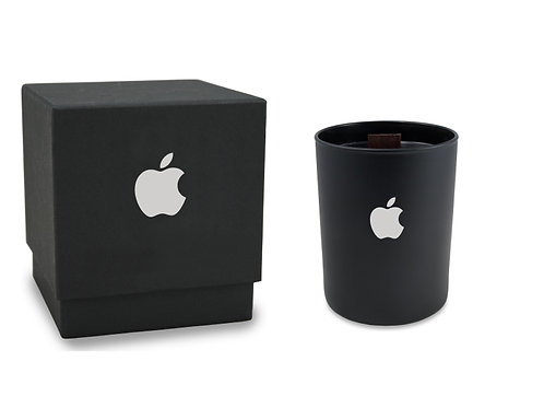 Black Matte Wood Wick Candle