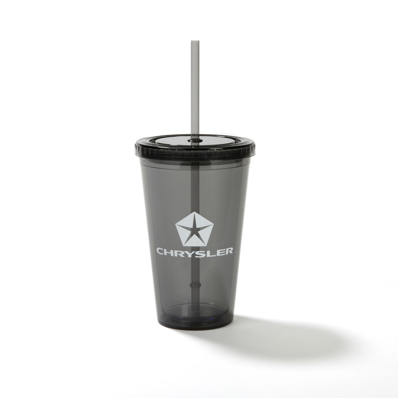 plastic tumbler with company logo