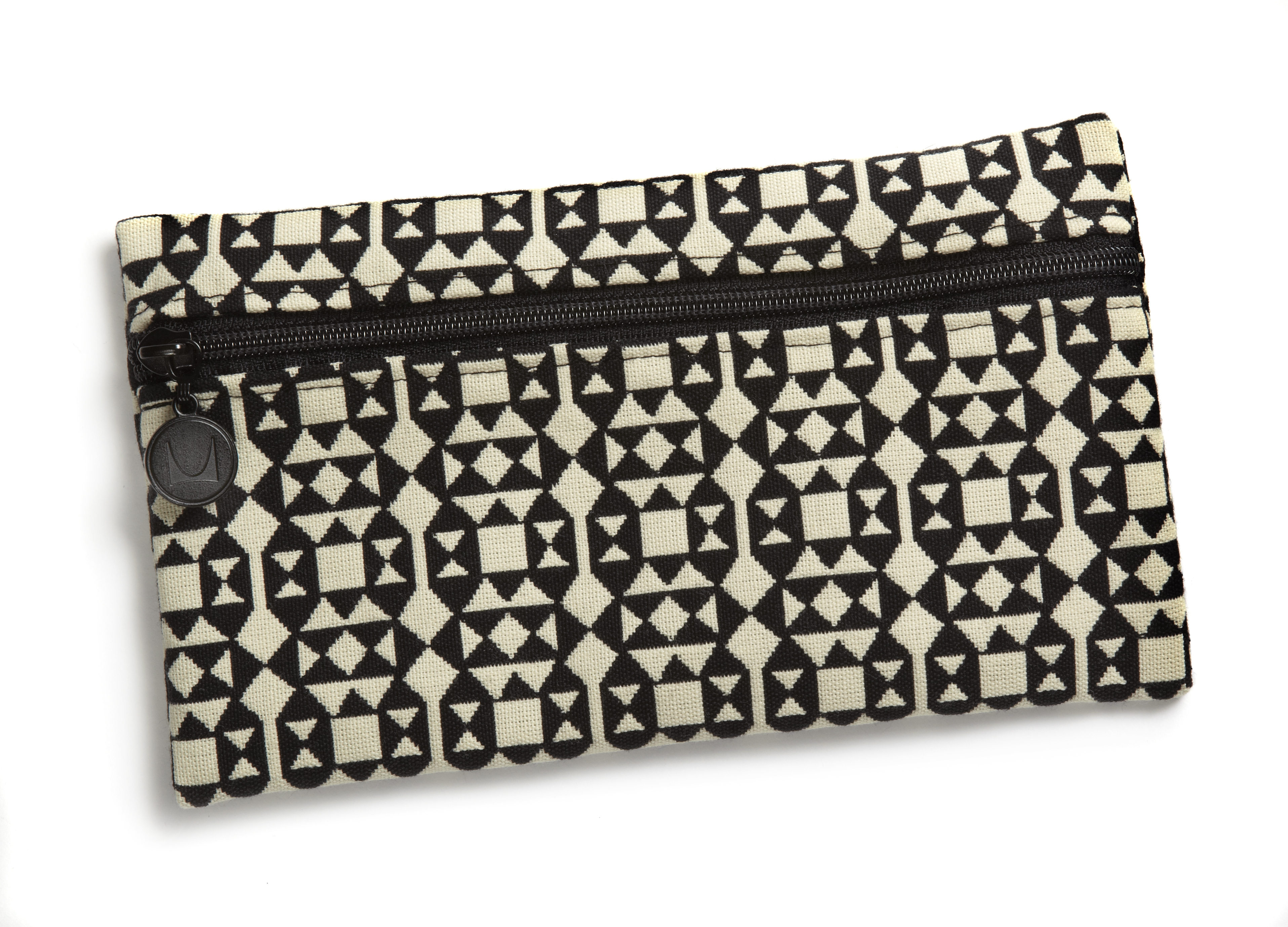 zipper pouch from recycled materials