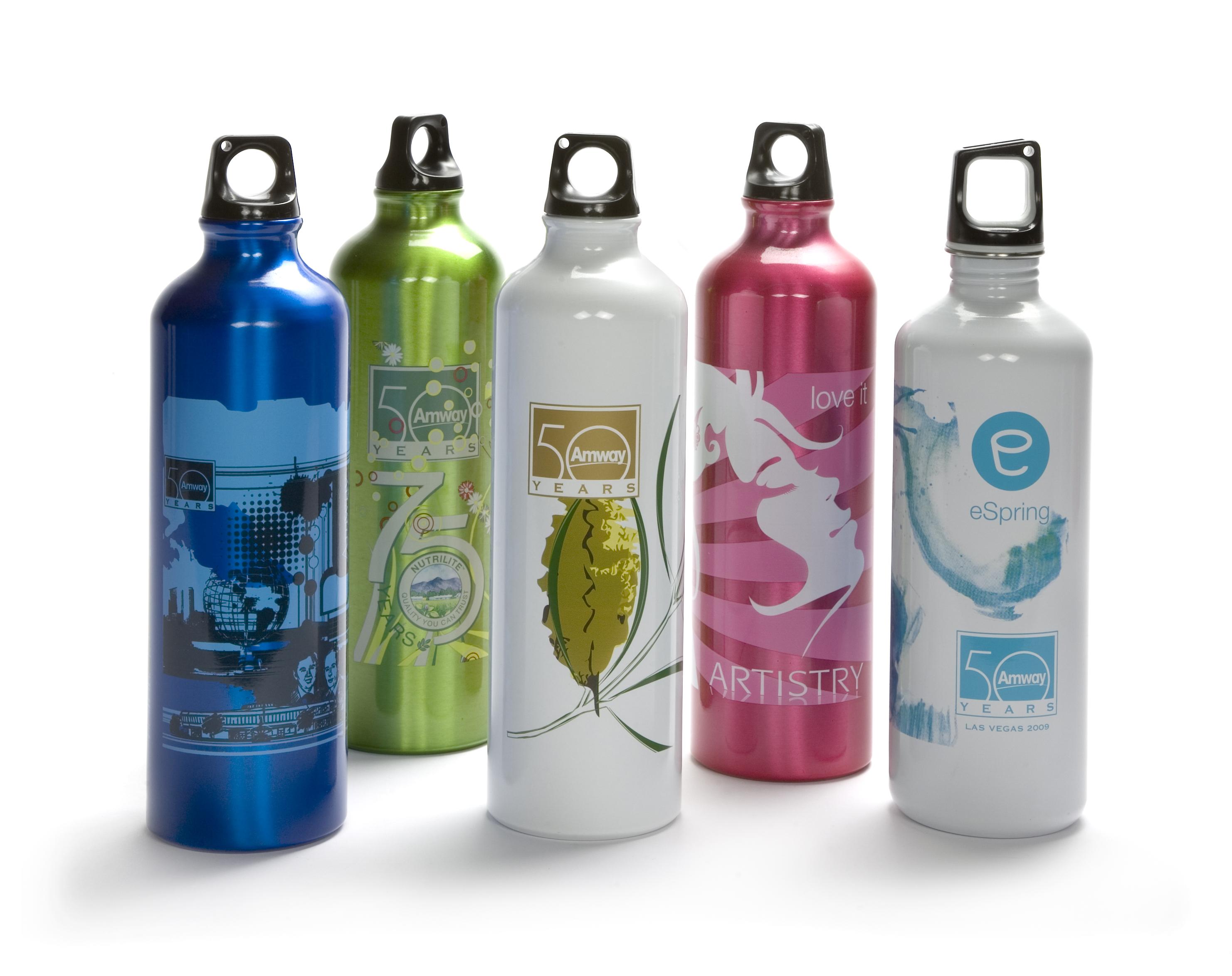 twist top water bottle with logo
