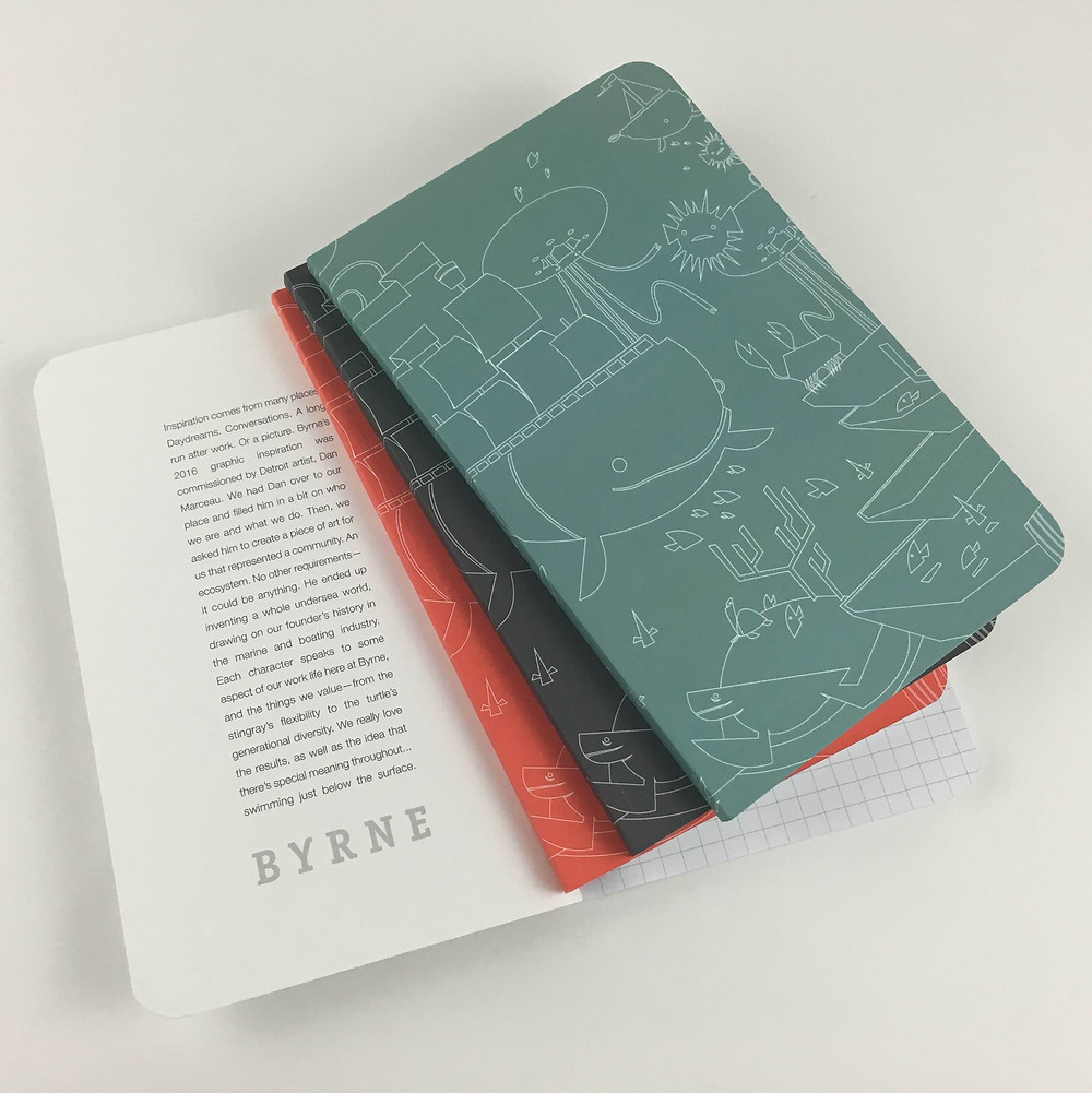 custom designed modern notebooks
