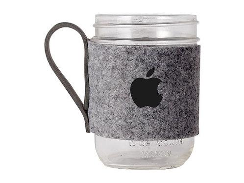 Mason Jar Mug with Felt Sleeve