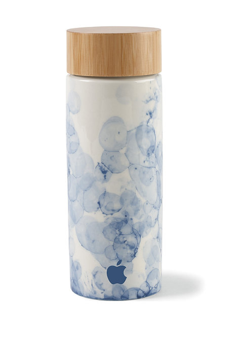 10 oz. Ceramic and Bamboo Bottle